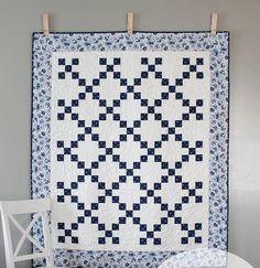China Blue Irish Chain Quilt Pattern | FaveQuilts.com