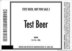 Anheuser-Busch - Test Beer