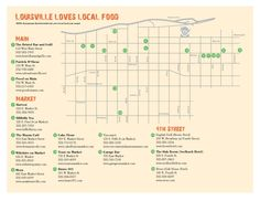 Map of farm to table restaurants in Louisville