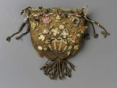 Small purse or bag English, late 18th or early 19th century England DIMENSIONS 21.6 x 38.3 x 10.8 cm (8 1/2 x 15 1/16 x 4.25 in.) MEDIUM OR ...