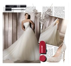 Brautkleider in weiß. by johnnymuller on Polyvore featuring Casadei, Chanel and Christian Dior
