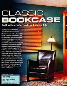 #2969 Classic Bookcase Plans - Furniture Plans