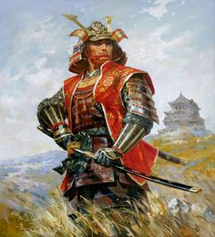 SAMURAI: Oda Nabunaga, 62.9x 55.1 inches Oil on Canvas by Talgat Tleuzhanov, kazakh artist