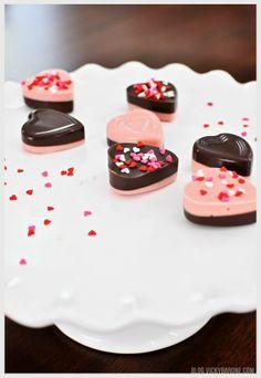 DIY Chocolate Valentine Hearts | Vicky Barone