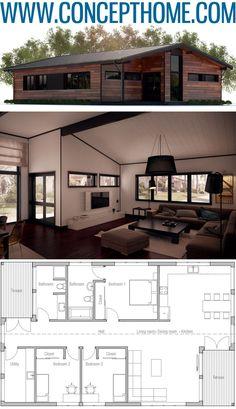 House Plan, Home Plans, Floor Plans Modern Small House Design, House Front Design, Minimalist House Design, Tiny House Design, Best House Plans, Modern House Plans, Small House Plans, Modern Architecture House, Architecture Plan