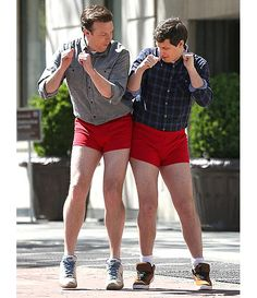 Jason Sudeikis and Andy Samberg - ummmm, yeah!  Rockin' those red shorts, boys.