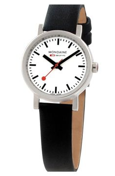 MONDAINE '(Evo)lution' Leather Strap Watch, 26mm available at #Nordstrom