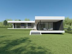 Individual modern Architectural design and concepts. Modern House Facades, Modern Bungalow House, Modern Architecture House, Modern House Plans, Modern House Design, Architecture Design, Villa, Container House Design, Facade House