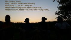 """Stop by the library for a tiny library concert in the style of NPR's tiny desk concerts. Look up """"Tiny Desk Concert"""" on YouTube to get a feel for this great new program at CPL!  Check out The Young Funks's Web Page and on Facebook."""