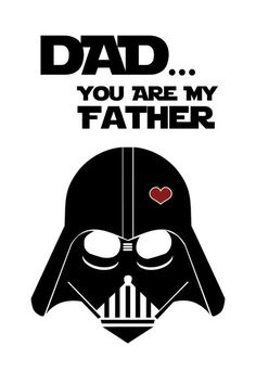 Come to the dark side, we have the best father's day ideas! Check out this awesome, printable father's day card. Perfect for the star wars dad in your life!