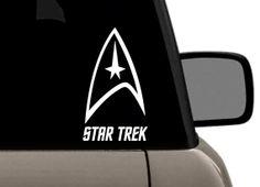Star Trek Command Symbol Vinyl Decal Superman Logo, Volkswagen Logo, Star Trek, Golf Clubs, Vinyl Decals, Darth Vader, Logos, Stars, Starship Enterprise