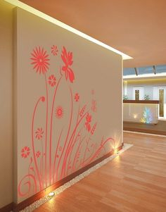 Convert your wall from boring to beautiful. Get this floral beauty decal only at www.gloob.in and make your walls stand out.