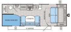 2015 Jay Flight 23MB Floorplan