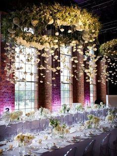 www.weddbook.com everything about wedding ♥ Floral chandeliers. Floral Ideas to Make Your Wedding Bloom #weddbook #wedding #photo #decor