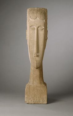 Amedeo Modigliani (Italian, 1884–1920). Woman's Head, 1912. Limestone