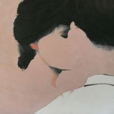 Ahh. I love the simplicity of this kiss. Jarek Puczel; Oil, 2011, Painting Lovers (1)