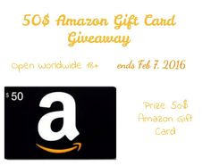 Enter the $50 Amazon Gift Card Giveaway for a chance to win! This and many giveaways on my blog. Enter them all for more chances to win