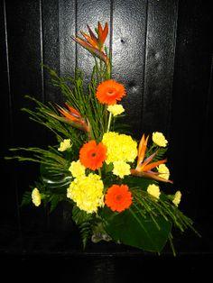 yellow and orange tropical arrangement