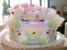 Baby Shower favorite-Diaper Cakes by Sharon