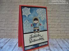 Stampin Up - Weihnachtskarte - Christmas Card - Weihnachten - Stempelset Ausgestochen Weihnachtlich - Marineblau - Melonensorbet - Global Design Project- Eskimo - GDP53 ♥ StempelnmitLiebe