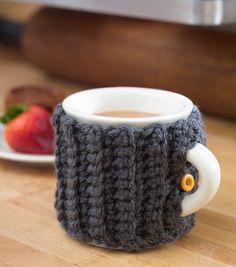 Ribbed Mug CozyRibbed Mug Cozy.  Crochet which looks like knit.