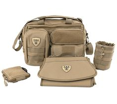 Same day shipping order by 1PM EST M-F Hassle-Free Guarantee The Deuce 2.0 Combo Set Includes: (1) Deuce 2.0 Tactical Diaper Bag™ (1) Bottle Pouch 2.0 (1) Dump Pouch 2.0 (1) Changing Mat Features: - V