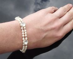 Leone, Double Row Pearl Bracelet - Jules Bridal Jewellery