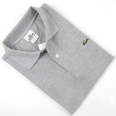 Men's Lacoste Polo  Short Sleeve Shirt Grey  #CheapLacoste #CheapLacosteLongSleeve #Polos #LacostePolos #LacostePoloShirts #StylishLacosteShirts #LacosteForCheap