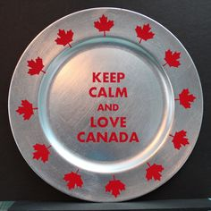TeamKNK - Sharing, Learning and Exploring with our Klic-N-Kuts. Canada Day Crafts, Canada Day Party, Happy Canada Day, True North, Charger Plates, Decorative Plates, Summer Decorating, Canada Eh, Decor Ideas