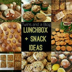 My HUGE and growing list of LUNCHBOX AND SNACK IDEAS for the whole family! I have labeled/colour coded each recipe to indicate if it is Nut Free, Egg Free, Gluten Free, Dairy Free, or Refined Sugar Free (note: my recipes are really easy to substitute ac Banana Oat Muffins, Lemon Muffins, Banana Oats, Doughnut Muffins, Bran Muffins, Oat Slice, Coconut Slice, Healthy Carrot Cakes, Healthy Snacks