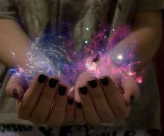 i wish i could hold the galaxy in my hands to watch the stars collide and connect Manos Tattoo, Galaxy Print, Ciel, Super Powers, The Dreamers, We Heart It, Outer Space, Wattpad, Spirituality