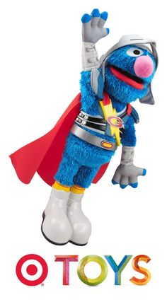 Your child will love learning with the singing and talking Sesame Street Super Grover from Playskool.