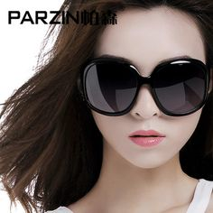 d32326a1c61 PARZIN Women Brand Designer Sunglasses Square Elegant Female Spectacles Big  Frame Driving Sun Glasses With Logo Box 6216