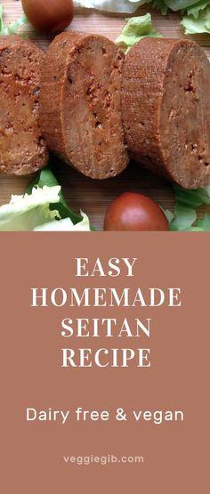Easy homemade seitan recipe #seitan #vegan #vegetarian
