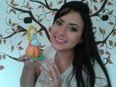 ▶ DIY - Aula Cinderela no potinho de abobora - Aula de biscuit- Raquel Fontinele - YouTube
