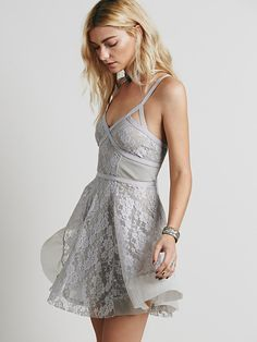 Gray dress with lace
