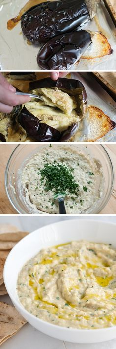HUMUS. If you love hummus and veggie dips, then you will love Baba Ganoush. It's made from roasted eggplants, tahini and garlic and tastes incredible! From inspiredtaste.net - Inspired Taste