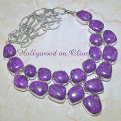 Beautiful Purple Copper Turquoise Necklace