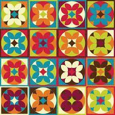 azulejos hidraulicos adesivos - Buscar con Google Ethnic Patterns, Tile Patterns, Textures Patterns, Print Patterns, Style Floral, Stenciled Floor, Geometric Flower, Retro Pattern, Tile Art