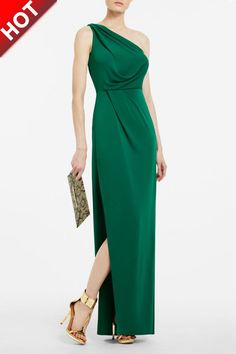 bcbg max azria | Tags :Cheap BCBG Max Azria,One Shoulder Dress,Evening Gown Green