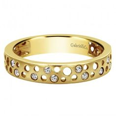 0.15 ct F-G SI Diamond Stackable Ladie's Ring In 14K Yellow Gold LR5657Y45JJ