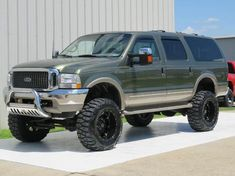 Lifted Ford Excursion on Lifted Ford Trucks, Jeep Truck, 4x4 Trucks, Diesel Trucks, Cool Trucks, Lifted Cummins, Dodge Diesel, Truck Camping, Truck Bed