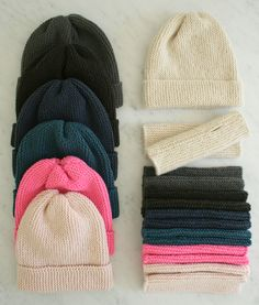 New Kit: Hat and Hand Warmers for Beginners - The Purl Bee - Knitting Crochet Sewing Embroidery Crafts Patterns and Ideas!