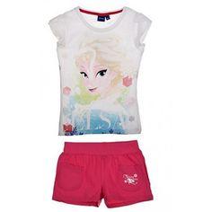 Frozen-Conjunto de pantalón corto y camiseta, diseño de Frozen, color rosa, 4, 6, 8, 5 años rosa 5 años #regalo #arte #geek #camiseta