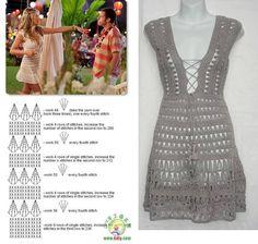 crochet dress jennifer aniston