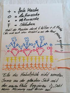 Anleitung Häkelborte in Häkelschrift