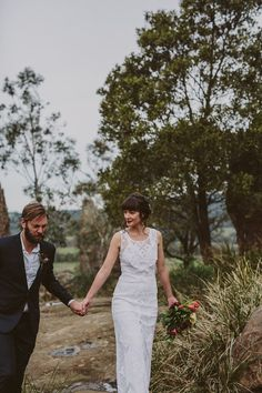 This bohemian bridal shoot was inspired by the Australian bush surrounding Hanging Rock, a sacred and holy place in Australia's history. Polka Dot Wedding, Bridal Shoot, White Dress, Bohemian, Wedding Dresses, Stems, Inspiration, Image, Fashion