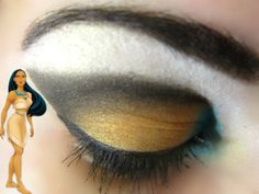 Pocahontas inspired makeup. :)  I love the colors!