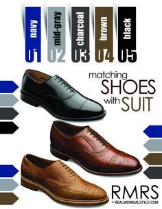 Shoes with Suit Color