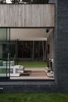 Watson House is a minimalist home located in New Forest, England, created by Strom Architects. The clients wanted to replace the existing suburban-styled house into a contemporary design that would allow them to have a closer association with nature. In addition, the single-story home is low enough to be completely hidden from the public eye. (5)